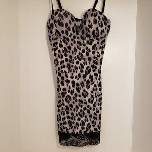 Marilyn Monroe Shaping Slip Leopard Print Dress